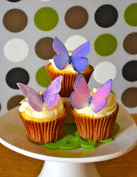 Amazon Edible Butterflies © Purple Set of 12 Cake