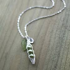 3 Peas In A Pod Jewelry Pea Pod Necklace The Necklace