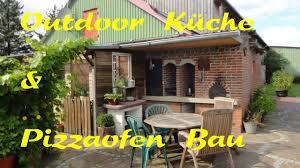 sommerküche selber bauen outdoorküche pizzaofen steinbackofen selber bauen lehmbackofen