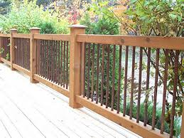 cedar deck railing with iron view more deck railing ideas http