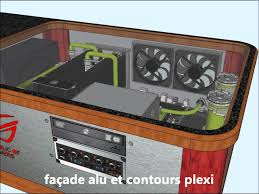 pc modding desk on sketchup full watercooling youtube