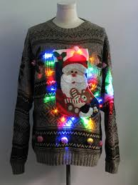 mens light up ugly christmas sweater mens multicolor lightup hand embellished ugly christmas sweater