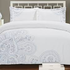 melange home paisley embroidered 3 piece duvet cover set u0026 reviews
