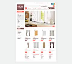 curtains u0026 blinds opencart template 42313