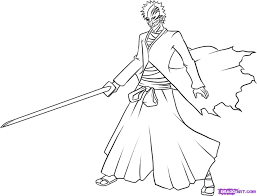 how to draw hollow ichigo step by step bleach characters anime