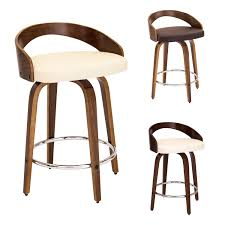 Mid Century Bar Stool Furniture Fantastic Mid Century Bar Stools With Wood Material For