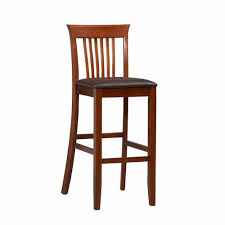 home decorators collection 30 in dark brown cushioned bar stool