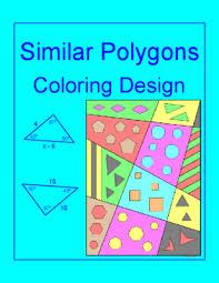 similar polygons coloring activity