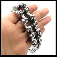 black stainless steel chain bracelet images Wholesale 22mm huge heavy men 39 s motor bike chain silver black jpg