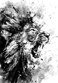 18 black and white wall and home decor ideas 14 lion art diy