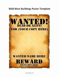 44 fresh image of wanted poster template template designs