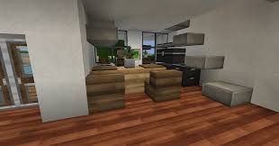 how to build a modern kitchen in minecraft 1 4 5 modern house series screenshots show your creation