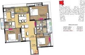 1471 sq ft 3 bhk floor plan image radiance realty icon available