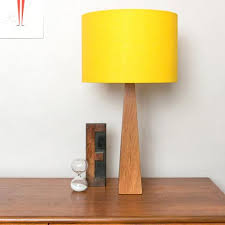 Yellow Table Lamp Bright Yellow Wooden Table Lamp U2013 Hunkydory Home