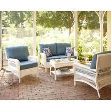 Wicker Patio Lounge Chairs Martha Stewart Living Charlottetown White All Weather Wicker Patio
