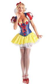 Corsets Halloween Costumes 5 Piece Snow White Corset Costume Halloween