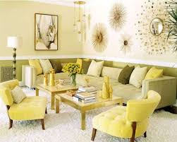 spring comfortable living rooms decorating ideas in yellow and