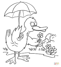 umbrella coloring pages free printable pictures