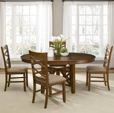 RoundtoOval Single Pedestal Dining Table With Inch Butterfly - Dining room table with butterfly leaf