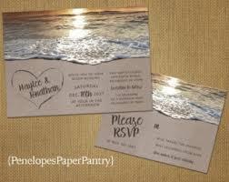 beachy wedding invitations wedding etsy