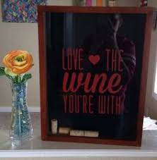 wine quote on shadow box with corks projects completed