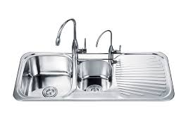 Double Bowl Sink Dish Drain Double Bowl With Drainboard Kitchen - Double kitchen sink