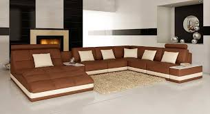 Sectional Sofas Bay Area Brown Leather Sectional Sofa With Built In End Table Vg143