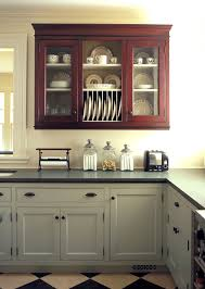 beautiful glass curio cabinets in kitchen traditional with painted