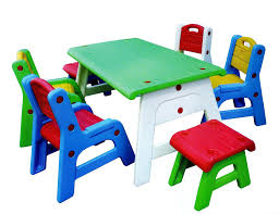Plastic Table And Chairs Table And Chairs For Toddlers Decofurnish