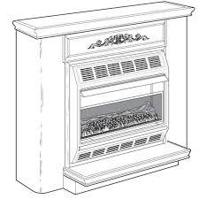 Desa Ventless Fireplace - vmh3000tna desa vent free compact gas fireplace
