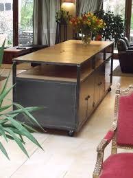 ilot de cuisine en bois ilot de cuisine bois métal sur mesure micheli design