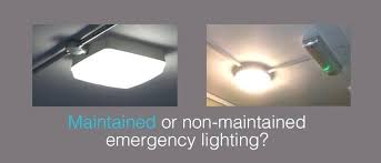 non maintained emergency lighting wiring diagram exit light