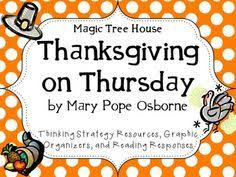 magic tree house thanksgiving on thursday reading and writing