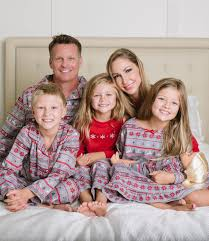 embroidered family christmas pajamas nordic pajamas