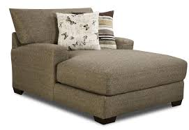 grey fabric chaise lounge sofa with backrest and patterned
