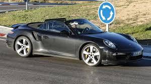 convertible porsche 2016 porsche 911 turbo cabrio facelift spied with minor changes