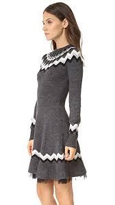 fair isle sweater dress valentino fair isle sweater dress shopbop