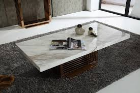 Marble Coffee Table Modern Rectangle White Marble Coffee Table Chocoaddicts