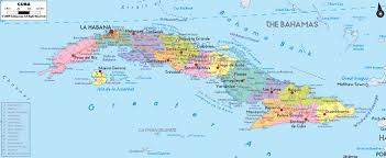 Cuba On The World Map by Large Detailed Administrative Map Of Cuba With Cities And Roads