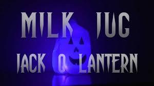 milk jug jack o lantern youtube
