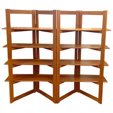 free standing bookshelves danish modern teak freestanding room