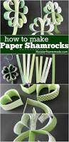st patrick u0027s day craft how to make paper shamrocks hoosier