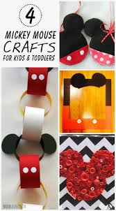 4 creative mickey mouse crafts for kids u0026 toddlers mickey mouse