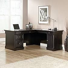 Sauder Registry Row Desk Amazon Com Sauder Avenue Eight L Shaped Desk In Wind Oak Kitchen