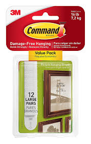 How To Hang Poster Without Frame Amazon Com Command Picture U0026 Frame Hanging Strips Large 24 Pair
