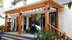 pergola canopy decorative shade retractable diy cover instructions