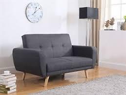 birlea farrow sofa bed settee 2 seater click clack grey fabric