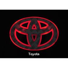 toyota corolla logo led car logo red light for toyota corolla crown yaris vios reiz