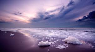 beaches beautiful landscape view purple sunset images