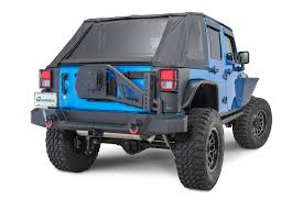 jeep tire carrier rampage products 99606 trailguard rear bumper with tire carrier
